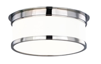 Picture for category Hudson Valley 712-PC Geneva Flush Mounts Polished Chrome 2-light