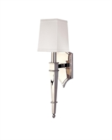 Picture for category Hudson Valley 741-PN Norwich Wall Lantern 5in Polished Nickel 1-light
