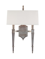 Picture for category Hudson Valley 742-HN Norwich Wall Lantern 15in Historic Nickel 2-light