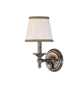 Picture for category Hudson Valley 7701-HN Orchard park Wall Lantern 6in Historic Nickel 1-light