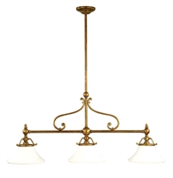 Picture for category Hudson Valley 7822-AGB Orchard park Island Lighting 13in Aged Brass 3-light