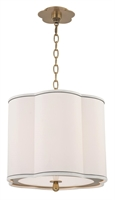 Picture for category Hudson Valley 7915-AGB Sweeny Pendants 15in Aged Brass 3-light