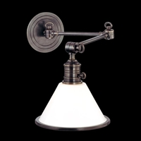 Picture for category Hudson Valley 8332-AN Garden city Wall Lantern 8in Antique Nickel 1-light