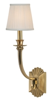 Picture for category Hudson Valley 961-AGB Alden Wall Lantern 6in Aged Brass 1-light