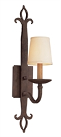 Picture for category Troy B2711 Wall Sconce Lyon Painted Metal Burnt Sienna Forge Iron 1Light 5 inch