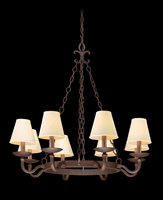 Picture for category Troy F2715 Chandelier Lyon Burnt Sienna HandForged Iron Candelabra 8Light 33 in