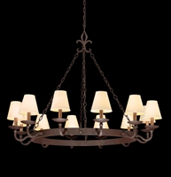 Picture for category Troy F2716 Chandelier Lyon Burnt Sienna HandForge Iron Candelabra 12Light 48 in