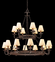 Picture for category Troy F2717 Chandelier Lyon Burnt Sienna HandForge Iron Candelabra 18Light 49 in