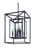 Picture for category Troy F9998DB Pendants Morgan Deep Bronze Hand-Worked Wrought Iron 8 Light 29 in
