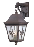 Picture for category Troy B2353WB Wall Lantern Markham Weathered Bronze Forged Iron 3 Lights 24 inch