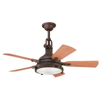 Picture for category Kichler 310101TZP Hatteras bay patio Ceiling Fans Tannery Bronze Powder Coat