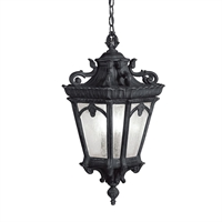 Picture for category Kichler 9855BKT Tournai Outdoor Pendant Textured Black