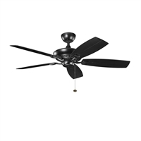 Picture for category Kichler 310192SBK Canfield patio Ceiling Fans Satin Black