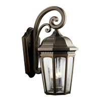 Picture for category Kichler 9034RZ Courtyard Outdoor Wall Sconces Rubbed Bronze