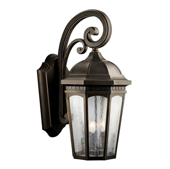 Picture of Kichler 9035RZ Courtyard Outdoor Wall Sconces Rubbed Bronze