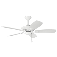 Picture for category Kichler 300107WH Canfield Ceiling Fans White