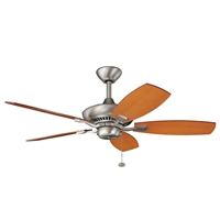Picture for category Kichler 300107NI Canfield Ceiling Fans Brushed Nickel