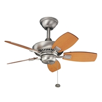 Picture for category Kichler 300103NI Canfield Ceiling Fans Brushed Nickel