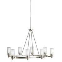 Picture for category Kichler 2345NI Circolo Chandeliers Brushed Nickel