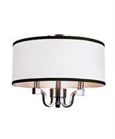 Picture for category Trans Globe 7970 BN Modern meets traditional Flush Mounts 15in Brushed Nickel