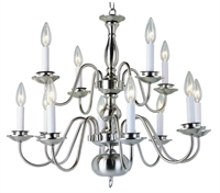 Picture for category Trans Globe Lighting 1012-1 PB Chandeliers Back to basics