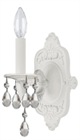 Picture for category Crystorama 5021-WW-CL-S Paris flea market Wall Sconces 6in Wet White 1-light
