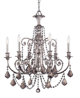 Picture for category Crystorama 5116-OS-SS-MWP Regis Chandeliers 26in Olde Silver Wrought Iron