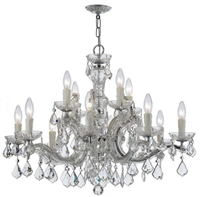 Picture for category Crystorama Lighting 4379-CH-CL-MWP Chandeliers Maria theresa