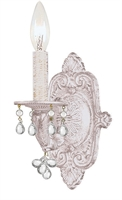 Picture for category Crystorama 5201-AW-CLEAR Sutton Wall Sconces 7in Antique White Wrought Iron