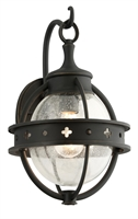 Picture for category Troy B3681 Wall Lantern Mendocino Forged Black Hand-Worked Iron 1 Light 15 inch