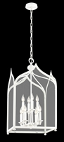 Picture for category Troy F3618 Pendant York White Hand-Work Wrought Iron Candelabra 8 Light 18 inch