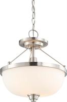 Picture for category Nuvo 60/4188 Helium Ceiling Medallion Lighting 14in Brushed Nickel Satin White