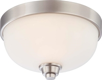 Picture for category Nuvo 60/4191 Helium Ceiling Medallion Lighting 11in Brushed Nickel Satin White