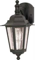 Picture for category Nuvo 60/990 Cornerstone Outdoor Lighting Lamps 7in Textured Black Clear Seed