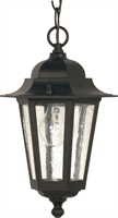 Picture for category Nuvo 60/993 Cornerstone Outdoor Lighting Lamps 7in Textured Black Clear Seed