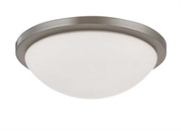 Picture for category Nuvo 60/2944 Button Ceiling Medallion Lighting 13in Brushed Nickel White