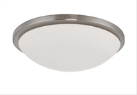 Picture for category Nuvo 60/2947 Button Ceiling Medallion Lighting 17in Brushed Nickel White