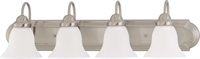 Picture for category Nuvo 60/3281 Ballerina Wall Lantern 30in Brushed Nickel Frosted White 4-light