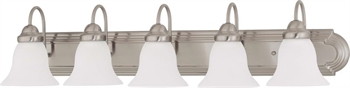 Picture of Nuvo 60/3282 Ballerina Wall Lantern 36in Brushed Nickel Frosted White 5-light