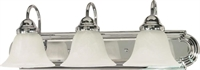Picture for category Nuvo 60/317 Ballerina Wall Lantern 24in Polished Chrome Alabaster 3-light