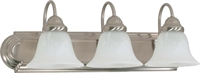Picture for category Nuvo 60/321 Ballerina Wall Lantern 24in Brushed Nickel Alabaster 3-light