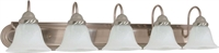 Picture for category Nuvo 60/323 Ballerina Wall Lantern 36in Brushed Nickel Alabaster 5-light