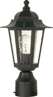 Picture for category Nuvo 60/996 Cornerstone Outdoor Lighting Lamps 7in Textured Black Clear Seed