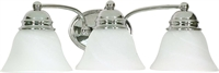 Picture for category Nuvo 60/338 Empire Wall Lantern 21in Polished Chrome Alabaster 3-light