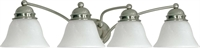 Picture for category Nuvo 60/343 Empire Wall Lantern 29in Brushed Nickel Alabaster 4-light