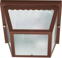 Picture for category Nuvo 60/472 Utility Outdoor Lanterns 9in Old Bronze Texture Frosted 2-light