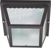 Picture for category Nuvo 60/473 Utility Outdoor Lanterns 9in Black Texture Frosted 2-light