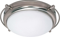 Picture for category Nuvo 60/608 Polaris Ceiling Medallion Lighting 14in Brushed Nickel Opal White
