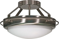 Picture for category Nuvo 60/609 Polaris Ceiling Medallion Lighting 14in Brushed Nickel Opal White
