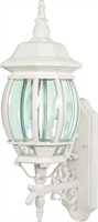 Picture for category Nuvo 60/888 Central park Outdoor Lighting Lamps 7in White Clear Beveled panels